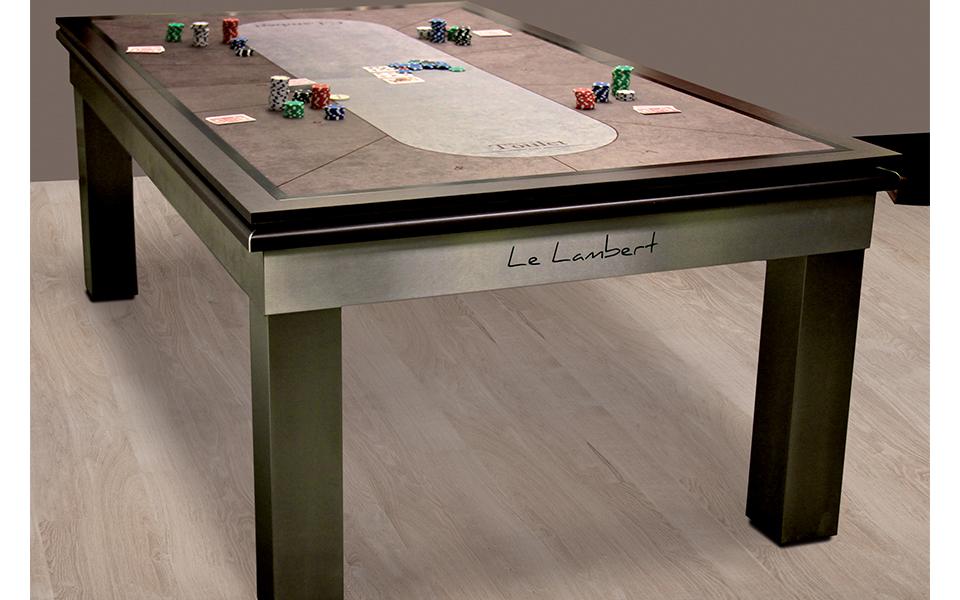 Mesa de billar convertible en una mesa de poker - Toulet