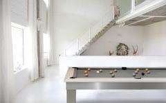 Billar diseño de billar mesa lambert billar blanco brillante viñeta toulet