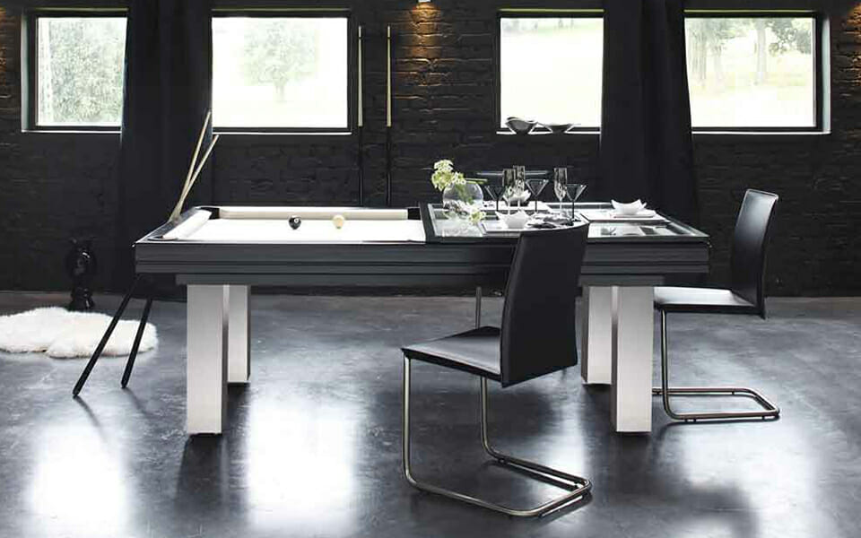 mesa de billar de diseño de acero inoxidable - Loft - Billards Toulet