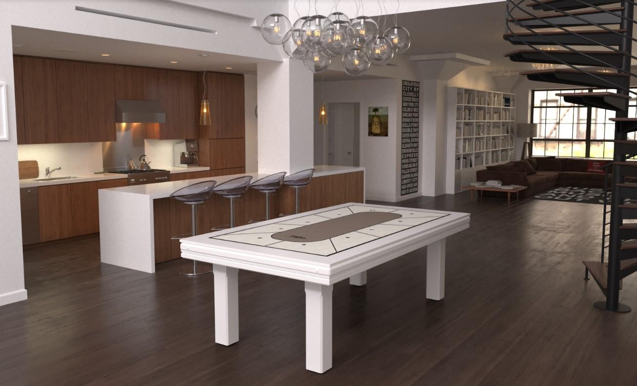 Mesa de billar con tapete de póker personalizado - Toulet
