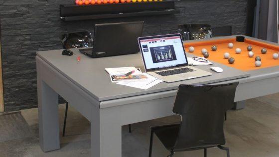 Toulet - Mesa de billar convertible escritorio