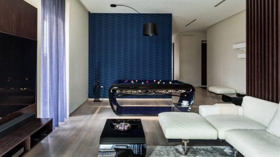Billar de diseno Blacklight - Salon Interiors ruso - Billares Toulet