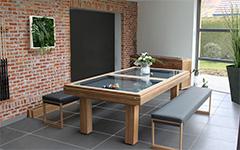 Una mesa de billar de teca para su jardín o terraza - Billards Toulet